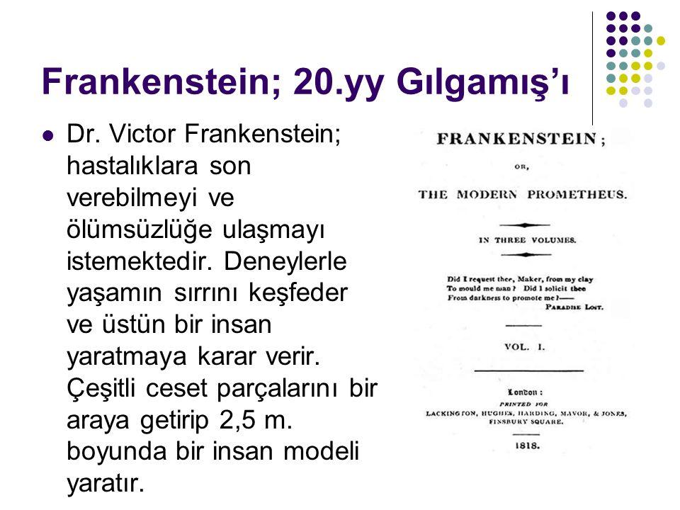 Yaratığın, tanrısına başkaldırısı Frankenstein yaratıcının adıdır.