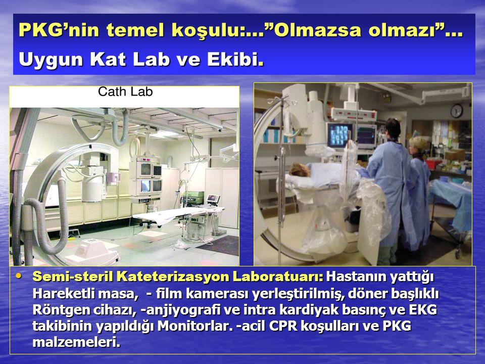 PKG'nin temel koşulu:… Olmazsa olmazı … Uygun Kat Lab ve Ekibi.