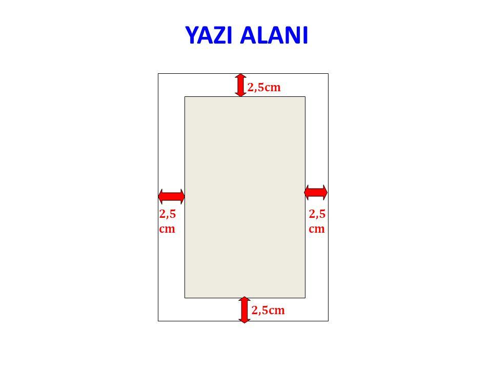 YAZI ALANI 2,5cm