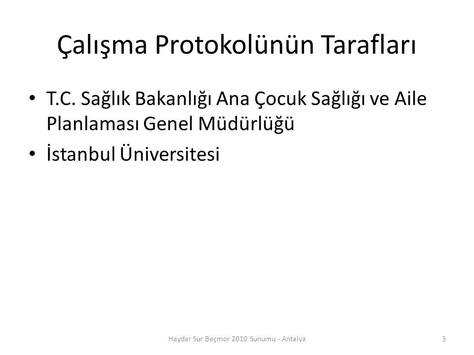 Çalışmanın Yürütülmesinde Sorumlu Kişiler Prof.Dr.