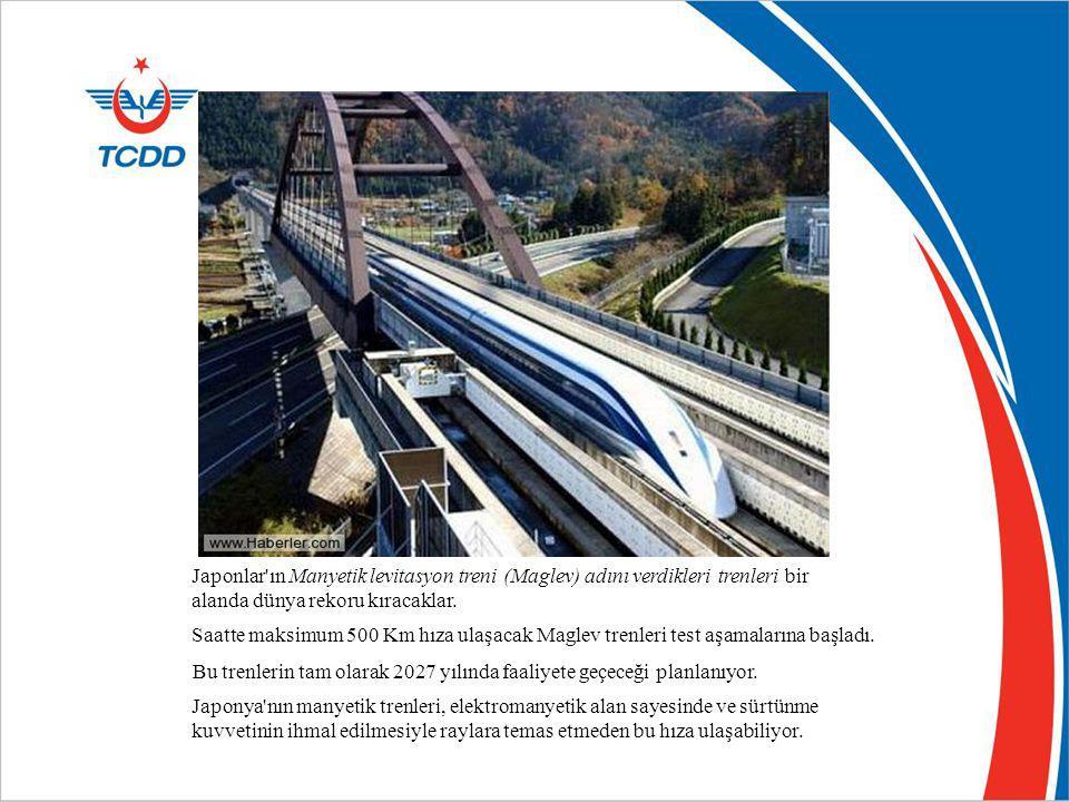 Japonlar'ın Manyetik levitasyon treni (Maglev) adını verdikleri trenleri bir alanda dünya rekoru kıracaklar. Saatte maksimum 500 Km hıza ulaşacak Magl