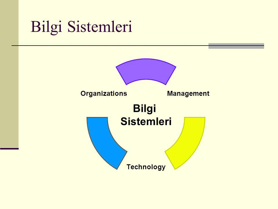 Bilgi Sistemleri Management Technology Organizations Bilgi Sistemleri