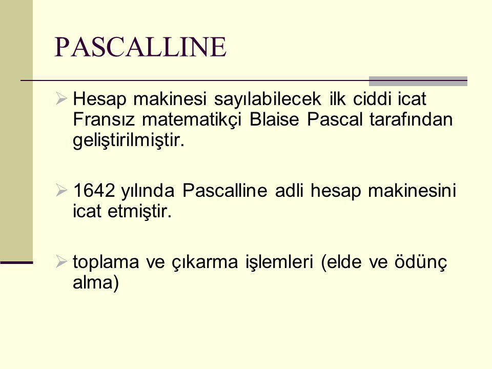  Hesap makinesi sayılabilecek ilk ciddi icat Fransız matematikçi Blaise Pascal tarafından geliştirilmiştir.
