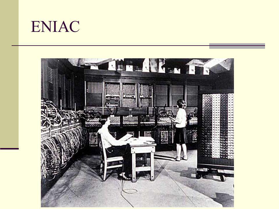  Mark–I den kısa bir süre sonra Pensilvanya Üniversite sinde ENIAC ( Elektronik sayisal Hesaplayici ve Dogrulayici ) isimli sayısal elektronik bilgisayar 1946 yılında tamamlandı.