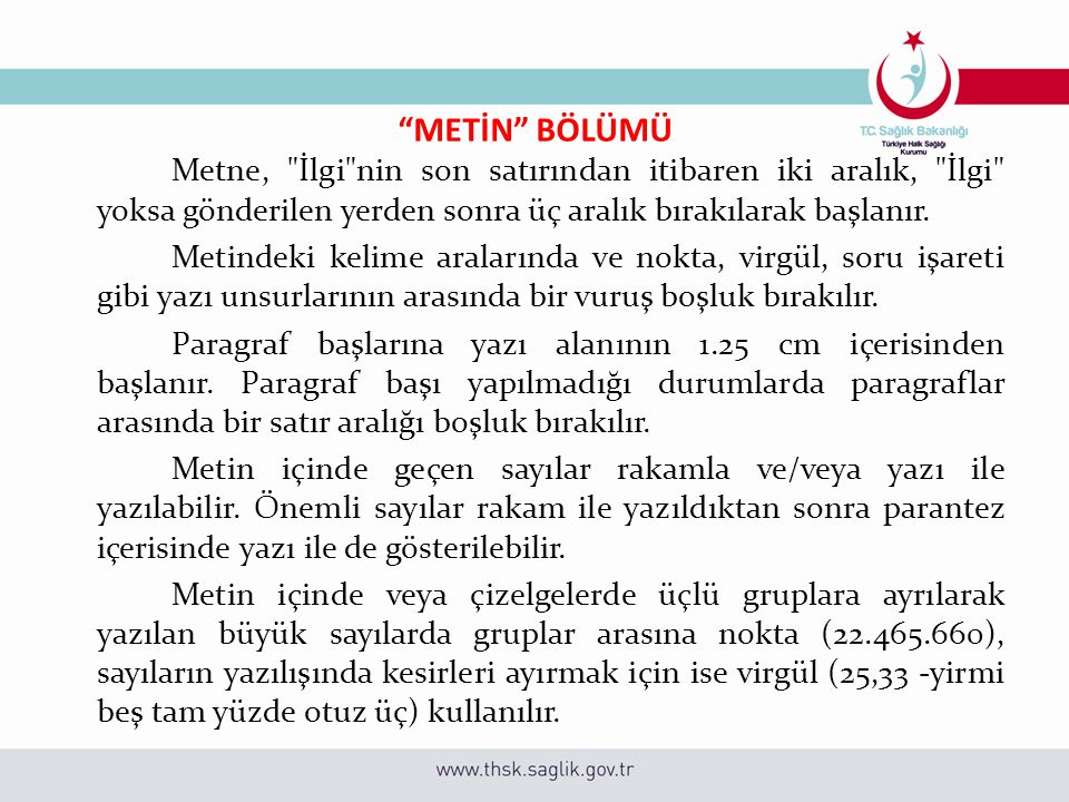 """""""METİN"""" BÖLÜMÜ Metne,"""