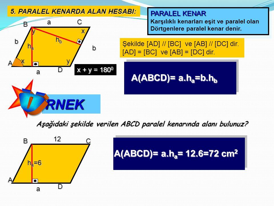 Koordinat düzleminde yer alan A(3,4), B(3,-4) ve C(1,7) noktaları arasında kalan alanı bulunuz.