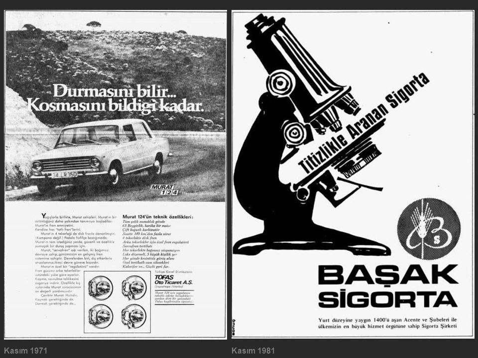 Kasım 1971 Kasım 1981