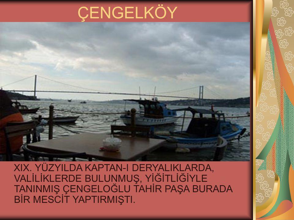 ÇENGELKÖY XIX.