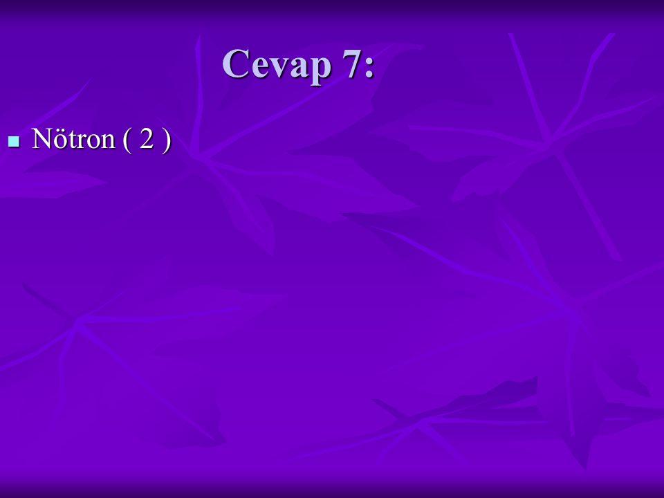 Cevap 7: Nötron ( 2 ) Nötron ( 2 )