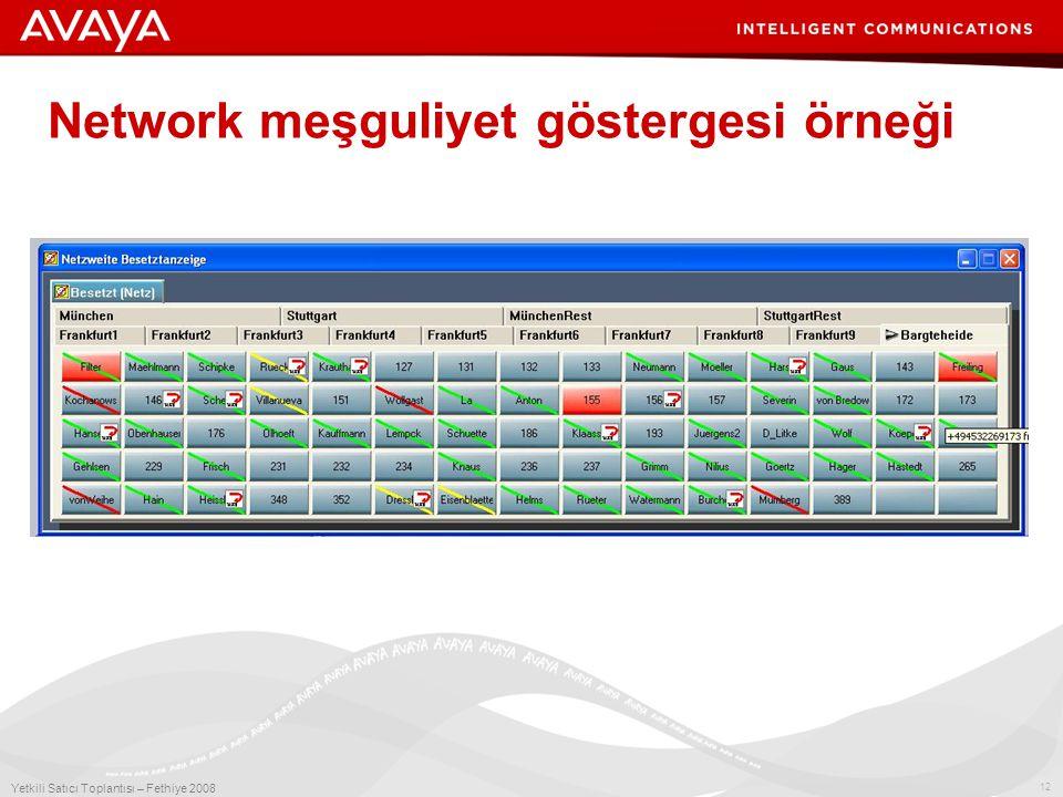12 Yetkili Satıcı Toplantısı – Fethiye 2008 Network meşguliyet göstergesi örneği