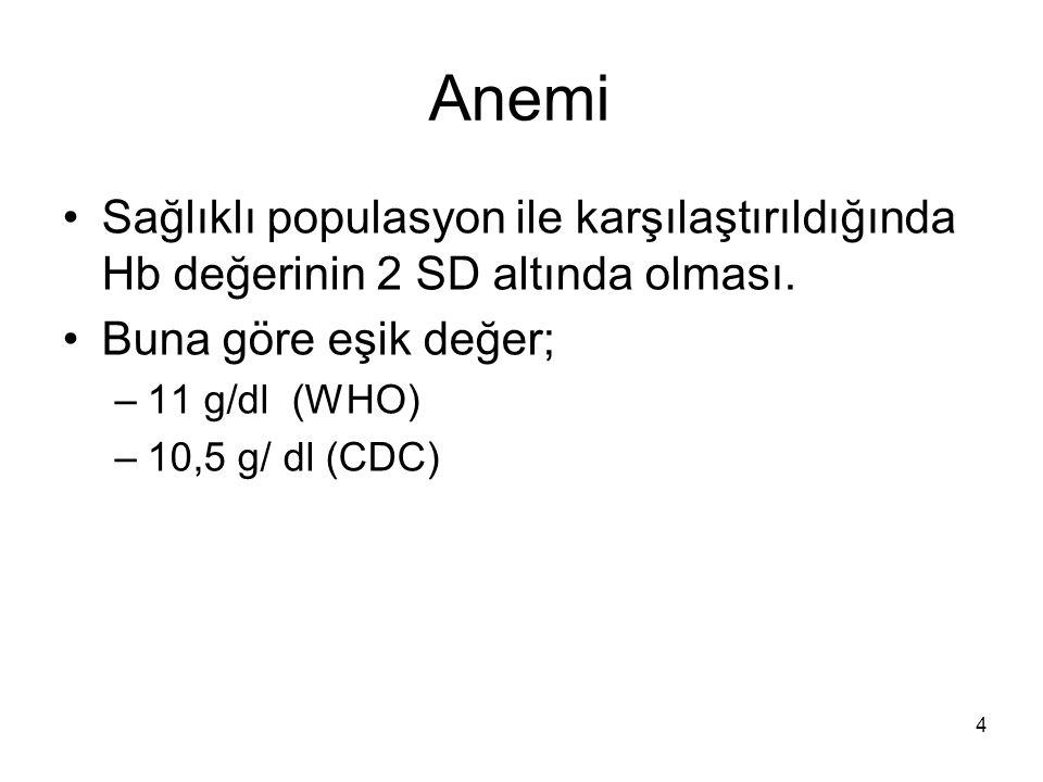 Gebelikte Aplastik Anemi Pansitopeni ve hiposellüler kemik iliği ile birliktedir.