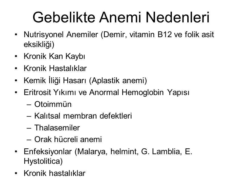 21 Megaloblastik Anemi Katı vejateryenler hariç vitamin B12 eksikliğine bağlı megaloblastik anemi çok nadir.