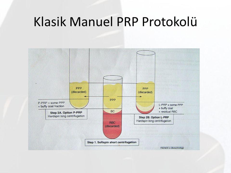 Klasik Manuel PRP Protokolü