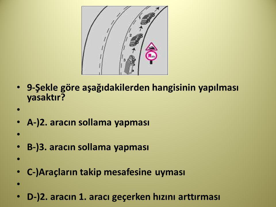 9-Şekle göre aşağıdakilerden hangisinin yapılması yasaktır.