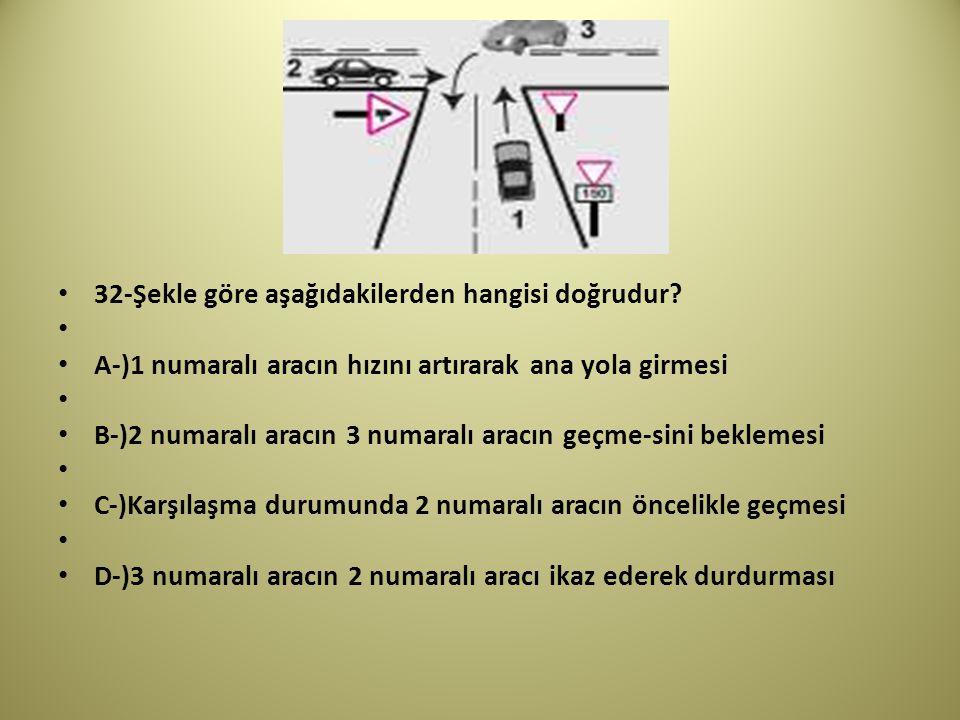 32-Şekle göre aşağıdakilerden hangisi doğrudur.
