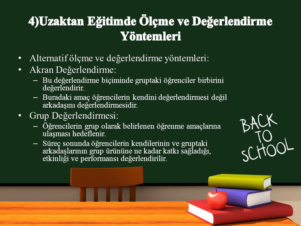 www.free-ppt-templates.com Alternatif ölçme ve değerlendirme yöntemleri: Akran Değerlendirme: – Bu değerlendirme biçiminde gruptaki öğrenciler birbirini değerlendirir.