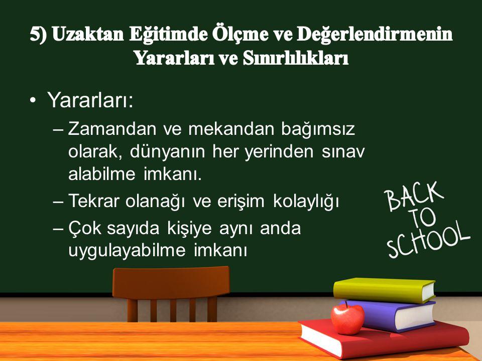 www.free-ppt-templates.com Yararları: –Zamandan ve mekandan bağımsız olarak, dünyanın her yerinden sınav alabilme imkanı.