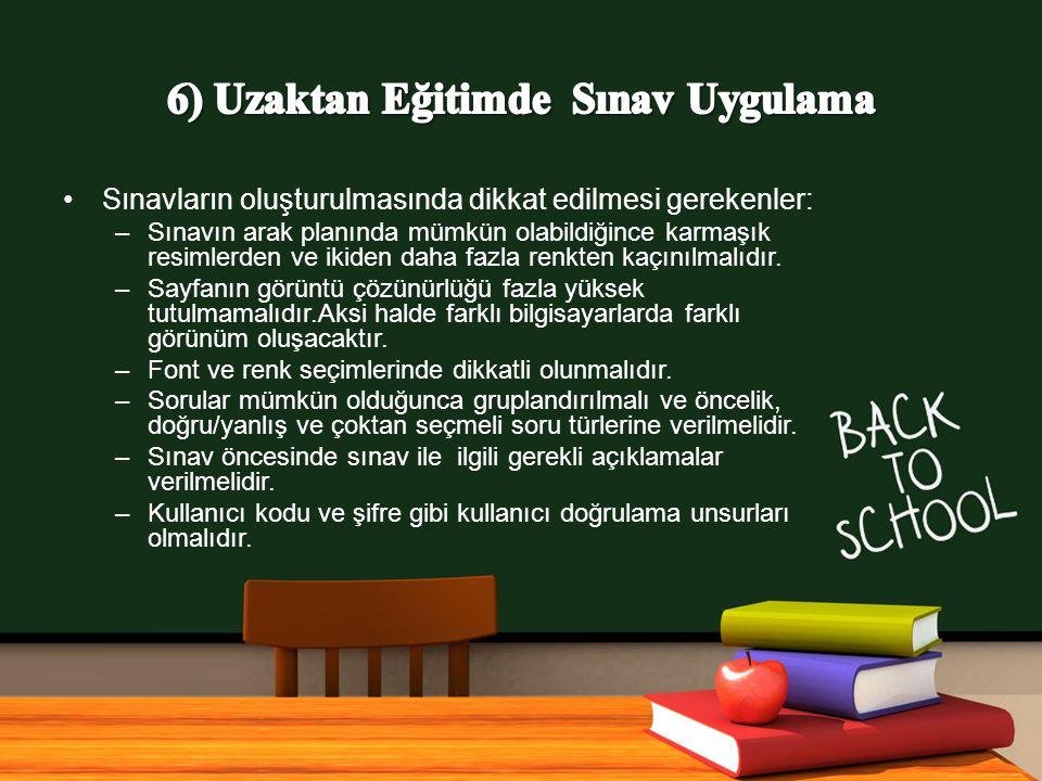 www.free-ppt-templates.com Sınavların oluşturulmasında dikkat edilmesi gerekenler: –Sınavın arak planında mümkün olabildiğince karmaşık resimlerden ve ikiden daha fazla renkten kaçınılmalıdır.