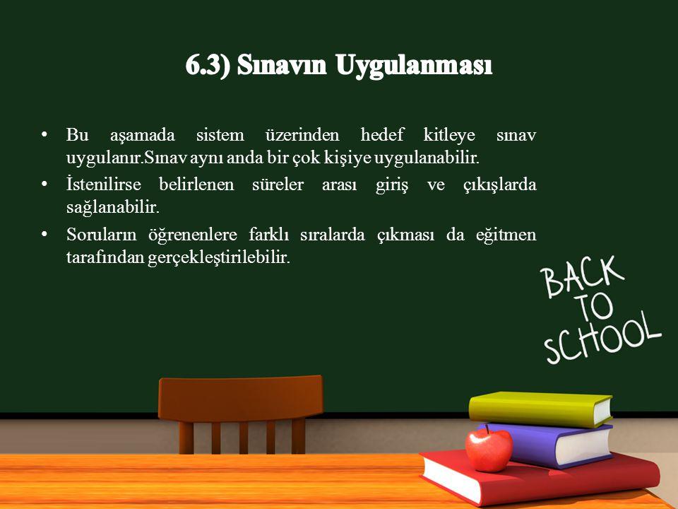 www.free-ppt-templates.com Bu aşamada sistem üzerinden hedef kitleye sınav uygulanır.Sınav aynı anda bir çok kişiye uygulanabilir.