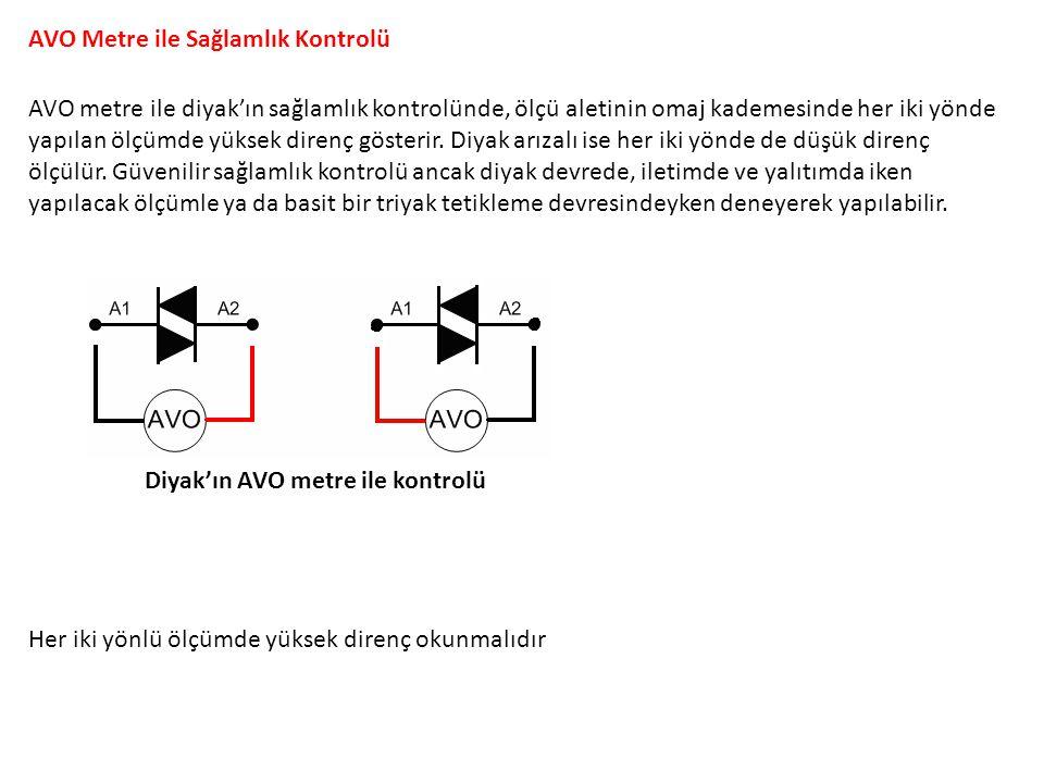 Diyaklı Pals Üretici Devre Diyakla yapılan osilatör devresinde DC akımın kutbuna göre Diyak pozitif ve negatif darbeler meydana getirir.
