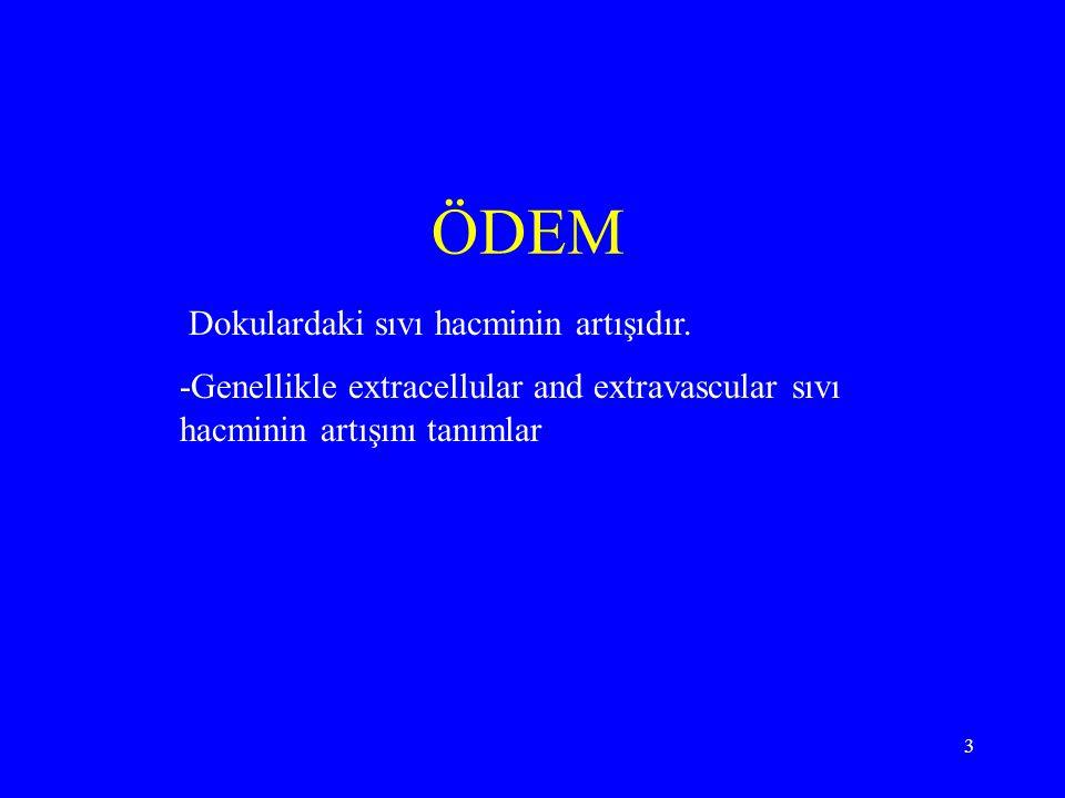 34 EKSÜDA Density > 1016 Protein > 3 g / dl Ascite albumin / Serum albumin > 0.5 Ascite LDH / serum LDH > 0.6 SAAG(serum-ascite albumin gradient < 1.1 Rivalta testi (+)