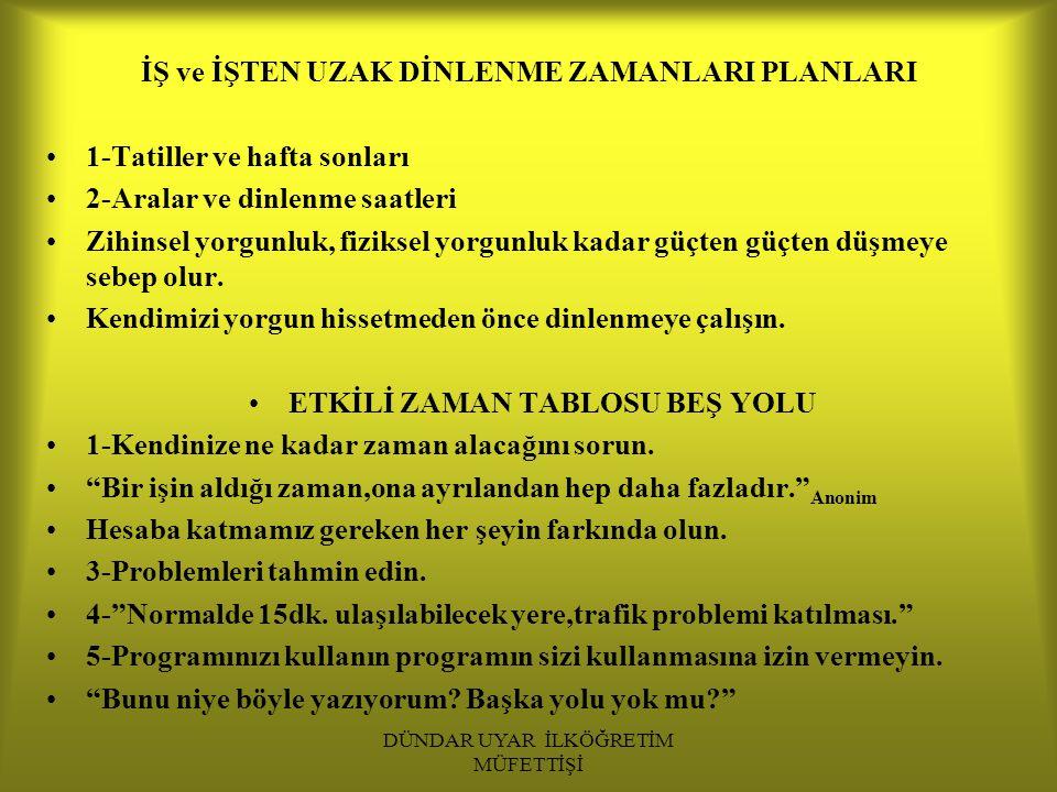 DÜNDAR UYAR İLKÖĞRETİM MÜFETTİŞİ 2.