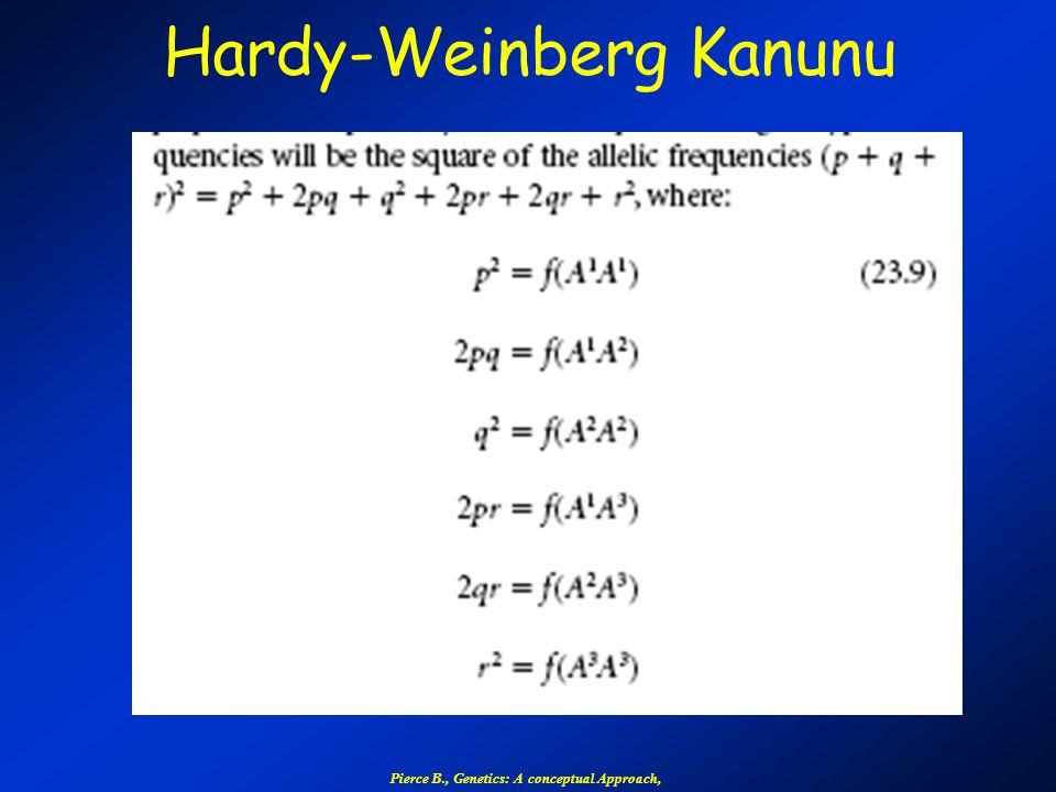 Hardy-Weinberg Kanunu Pierce B., Genetics: A conceptual Approach,
