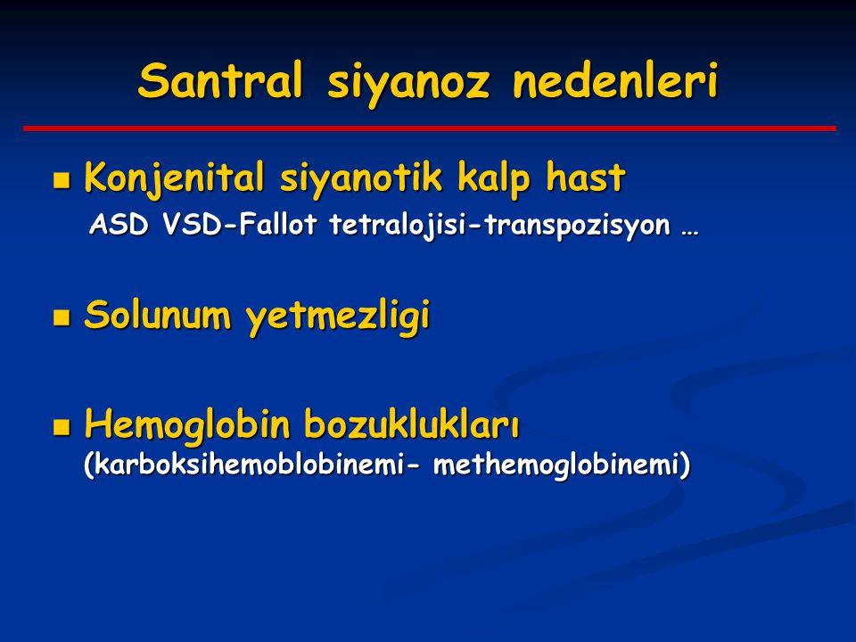 Santral siyanoz nedenleri Konjenital siyanotik kalp hast Konjenital siyanotik kalp hast ASD VSD-Fallot tetralojisi-transpozisyon … ASD VSD-Fallot tetr