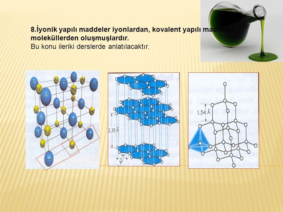 ÖRNEK-1: NOT: En sade biçimi molekülün formülünü verir.