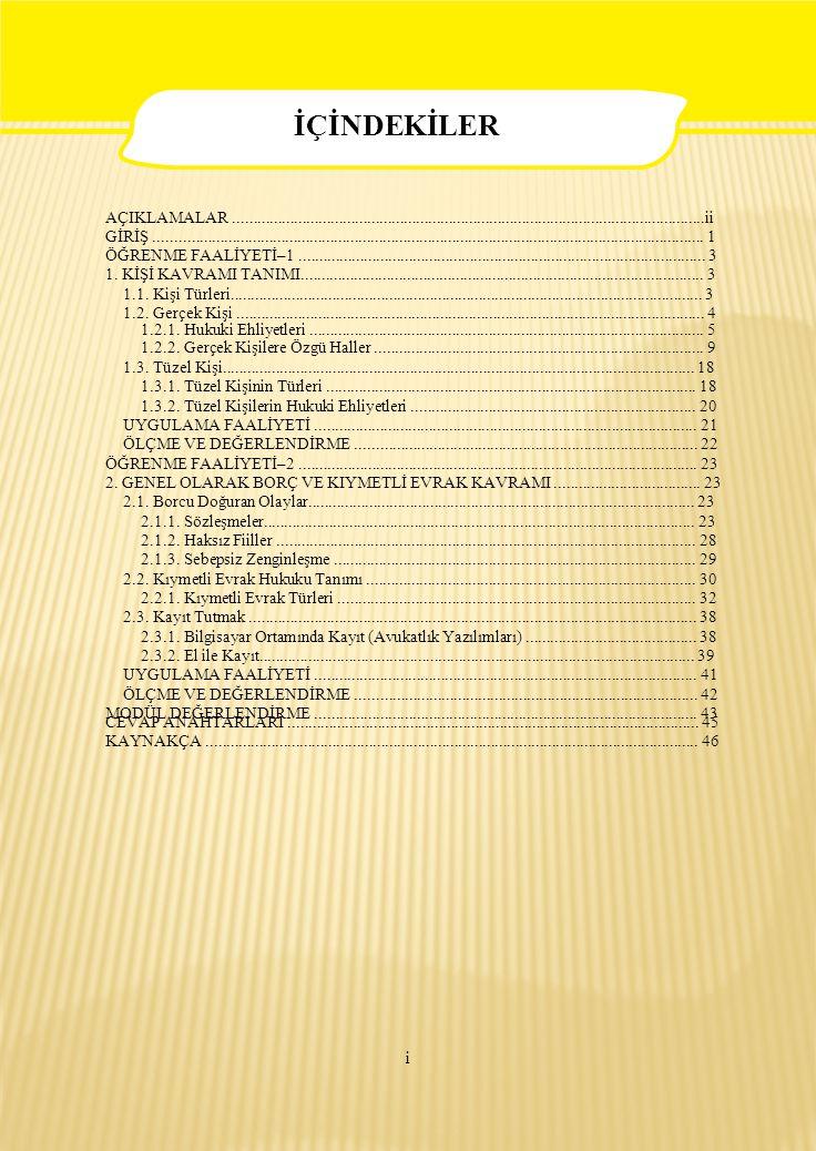 23  Çevrenizde düzenlenen sözleşmeleri inceleyiniz.