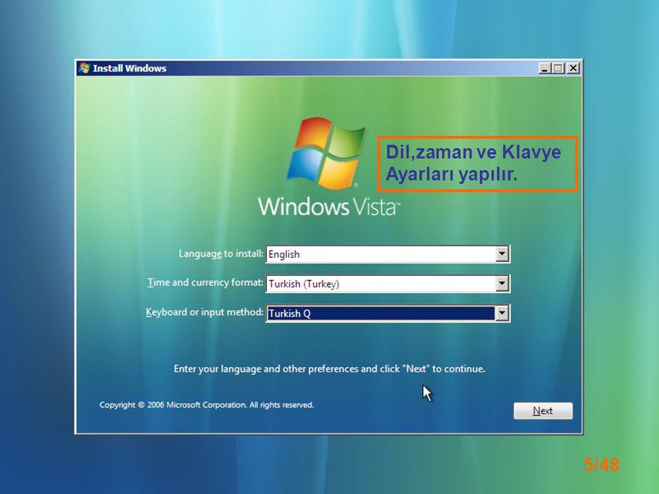 26/48 Windows Vista, bilgisayarınızın performansını ölçen bir dizi işlemler uyguluyor…