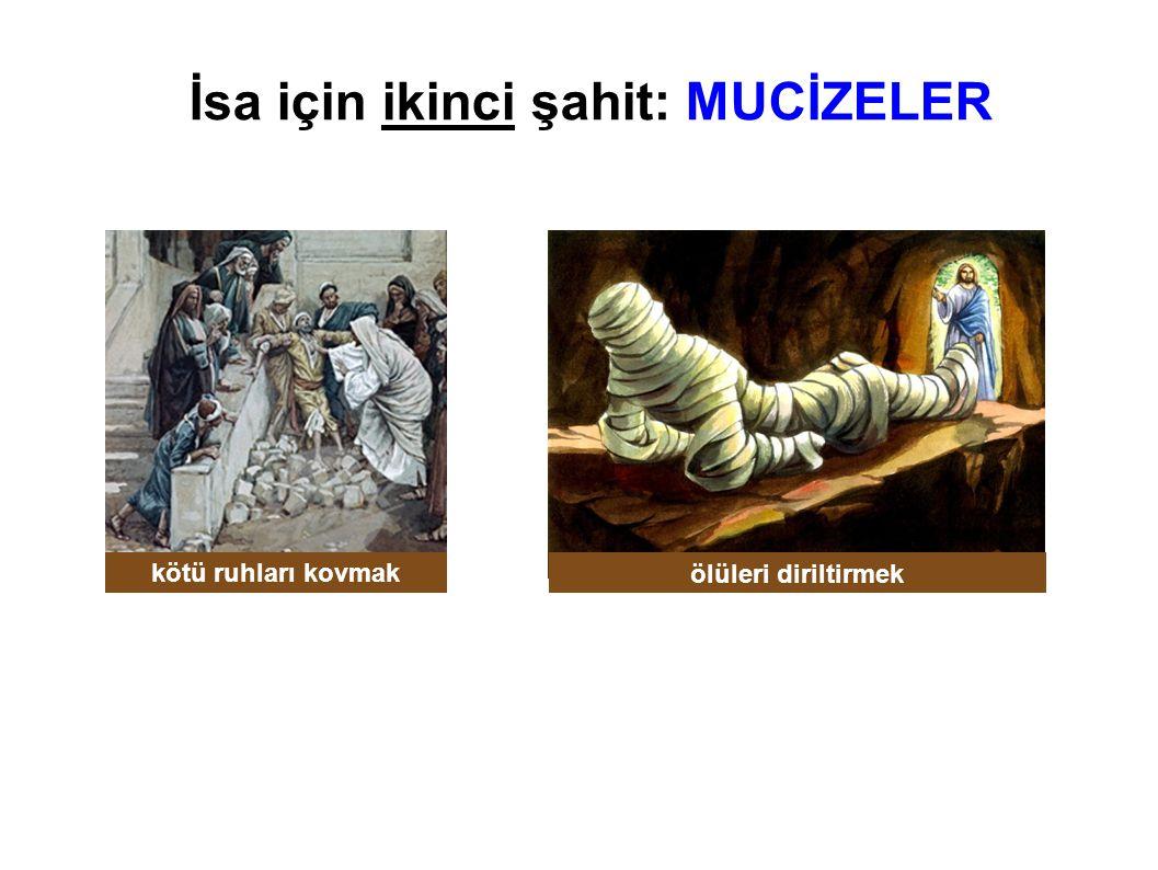 İsa için ikinci şahit: MUCİZELER kötü ruhları kovmak ölüleri diriltirmek