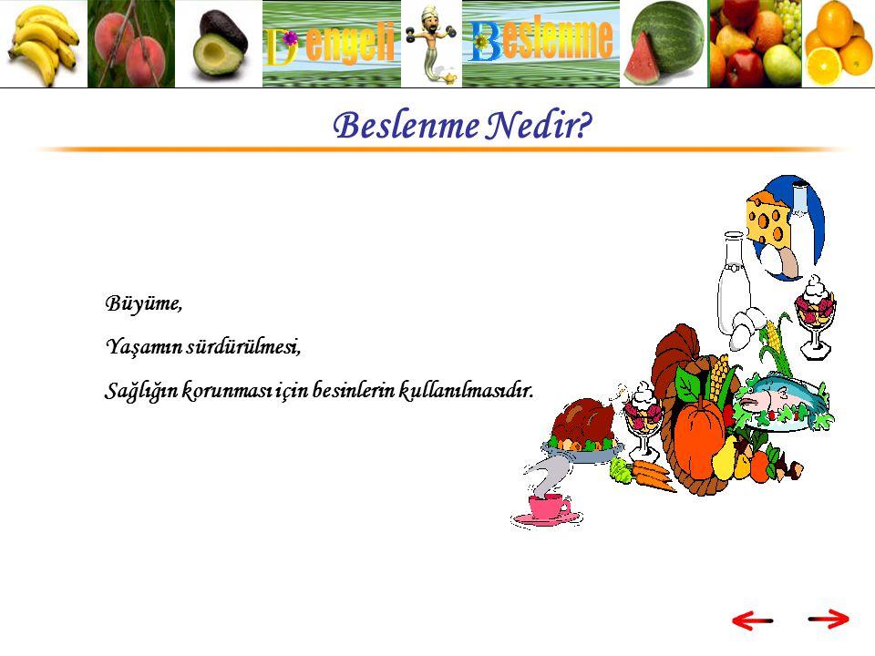 Sağlığımızın korunması için bir günde tüketilen yiyeceklerin dört ana besin grubunu içermesi ; Yaş cinsiyet ve aktiviteye göre gereken miktarda tüketilmesidir.