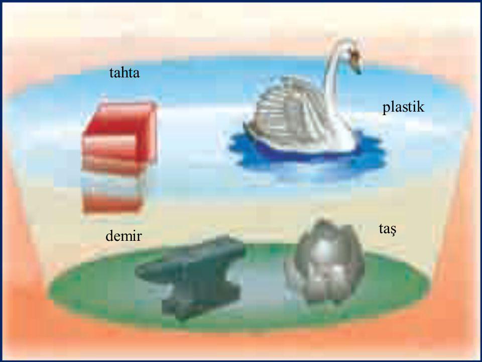 tahta plastik demir taş