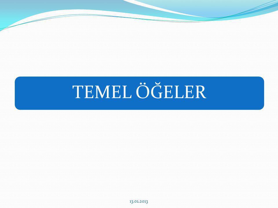 CÜMLENİN ÖĞELERİ TEMEL ÖĞELER YARDIMCI ÖĞELER ÖZNEYÜKLEM NESNE 1.