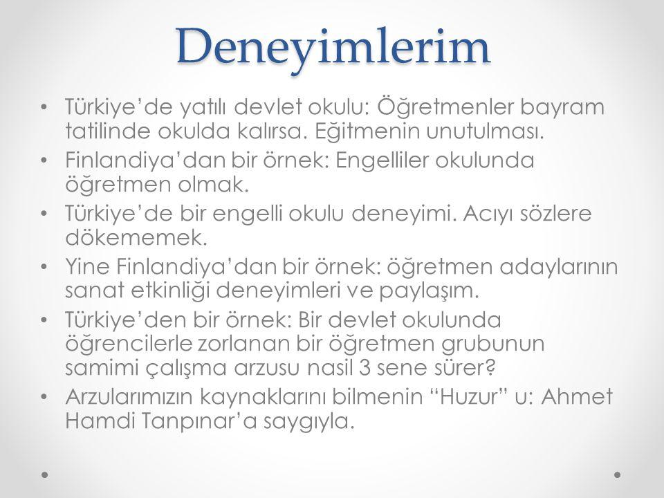 Deneyimlerim Türkiye'de yatılı devlet okulu: Öğretmenler bayram tatilinde okulda kalırsa.