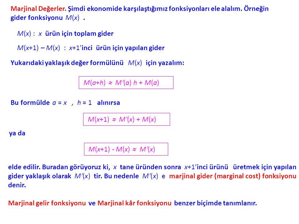 Örnek. sayısına bir yaklaşık değer bulalım. alınırsa, olur ve formülden elde edilir.