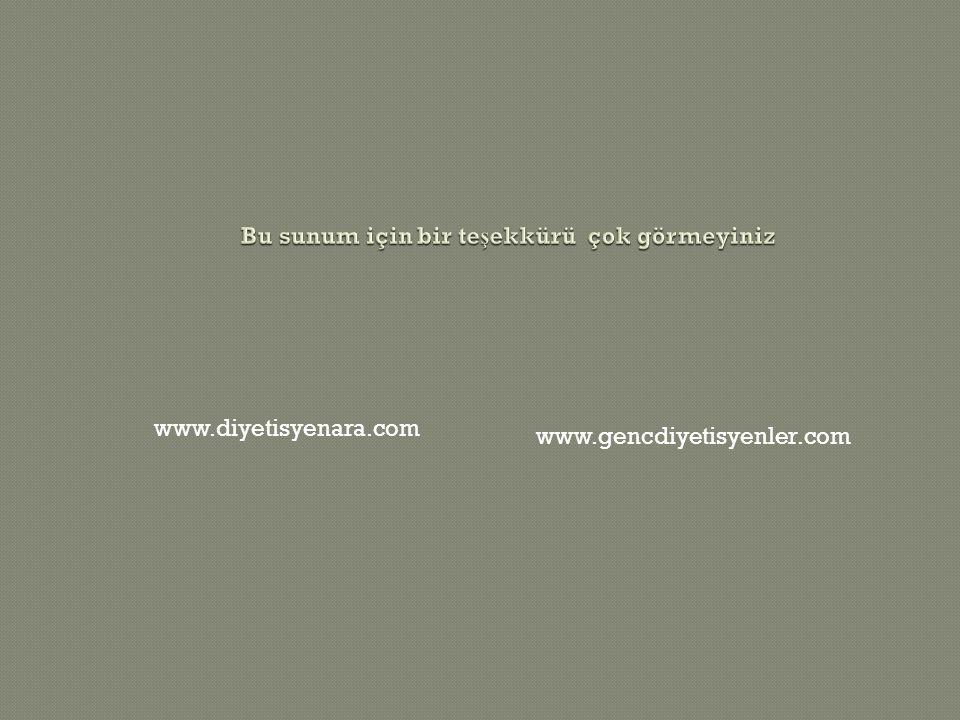 www.diyetisyenara.com www.gencdiyetisyenler.com
