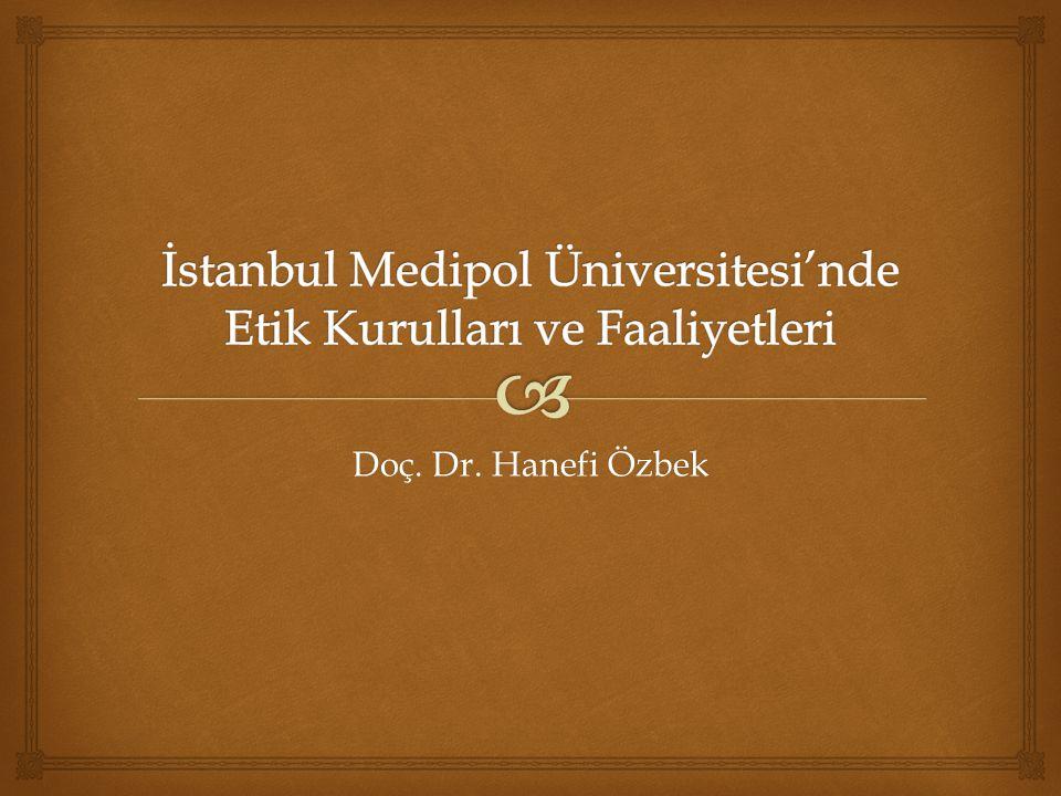 Doç. Dr. Hanefi Özbek