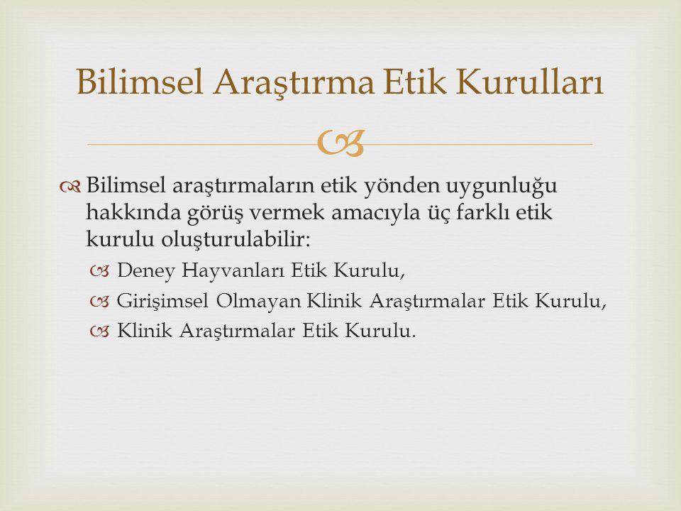   İstanbul Medipol Üniversitesi bünyesinde iki adet etik kurulu bulunmakta ve hizmet vermektedir:  Klinik Araştırmalar Etik Kurulu.
