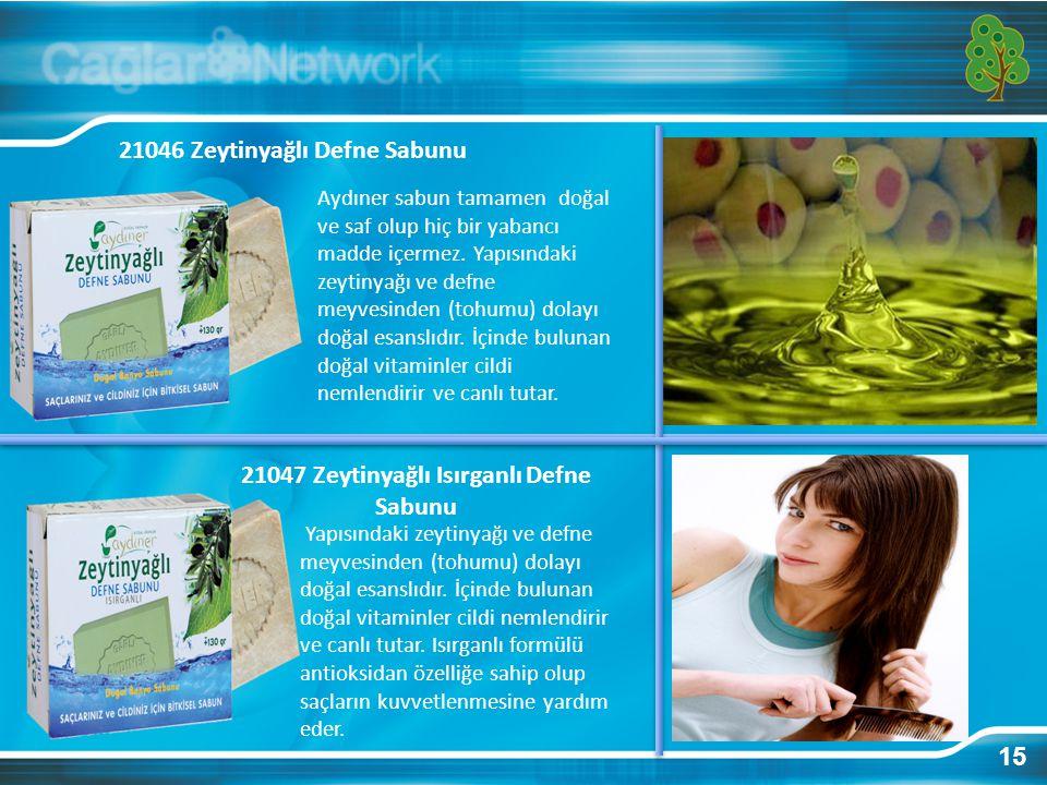 15 21046 Zeytinyağlı Defne Sabunu Aydıner sabun tamamen doğal ve saf olup hiç bir yabancı madde içermez.