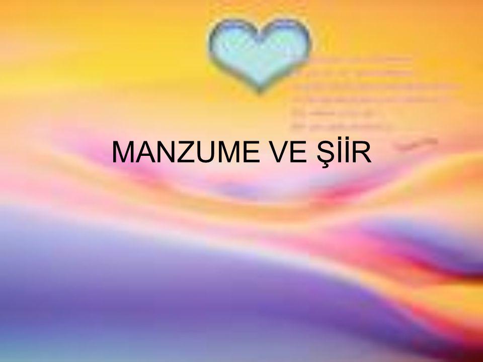 MANZUME VE ŞİİR