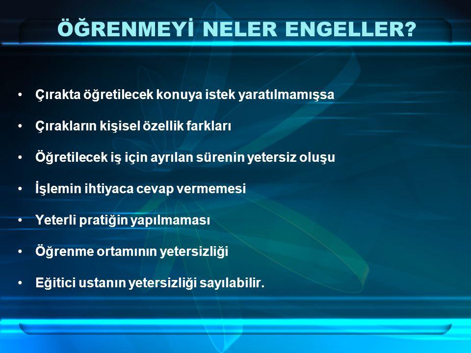 ÖĞRENMEYİ NELER ENGELLER.