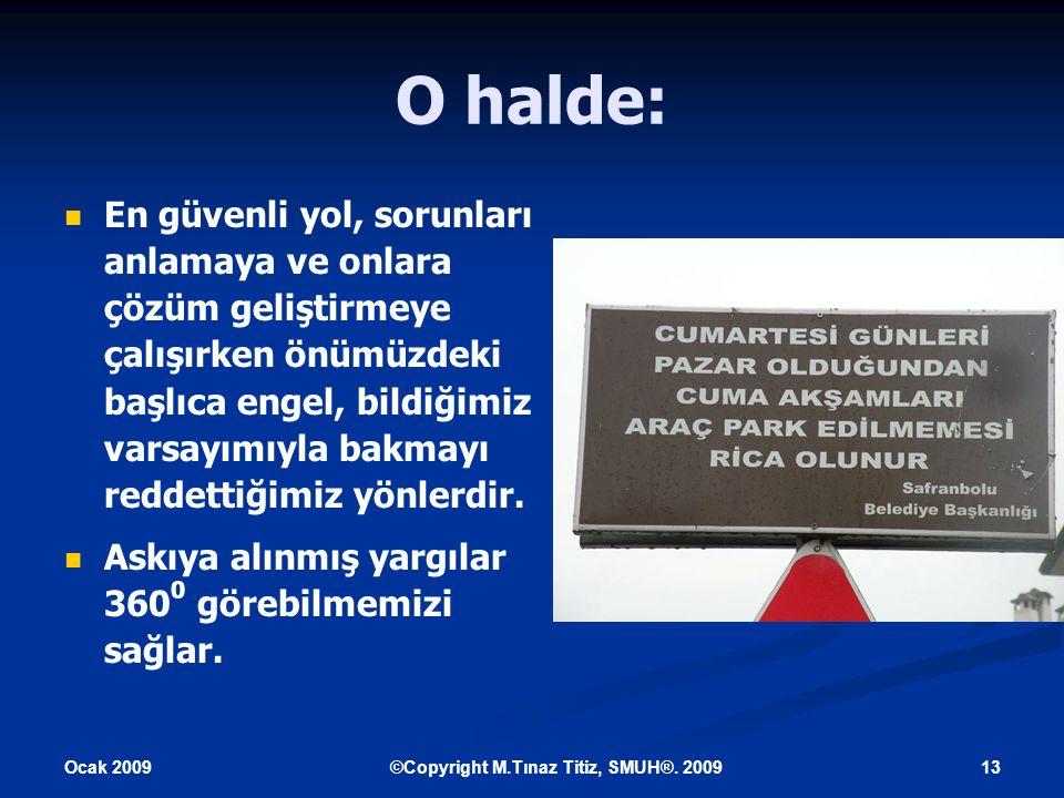 Ocak 2009 13©Copyright M.Tınaz Titiz, SMUH®.
