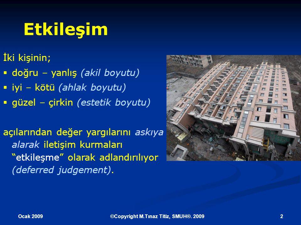 Ocak 2009 3©Copyright M.Tınaz Titiz, SMUH®.