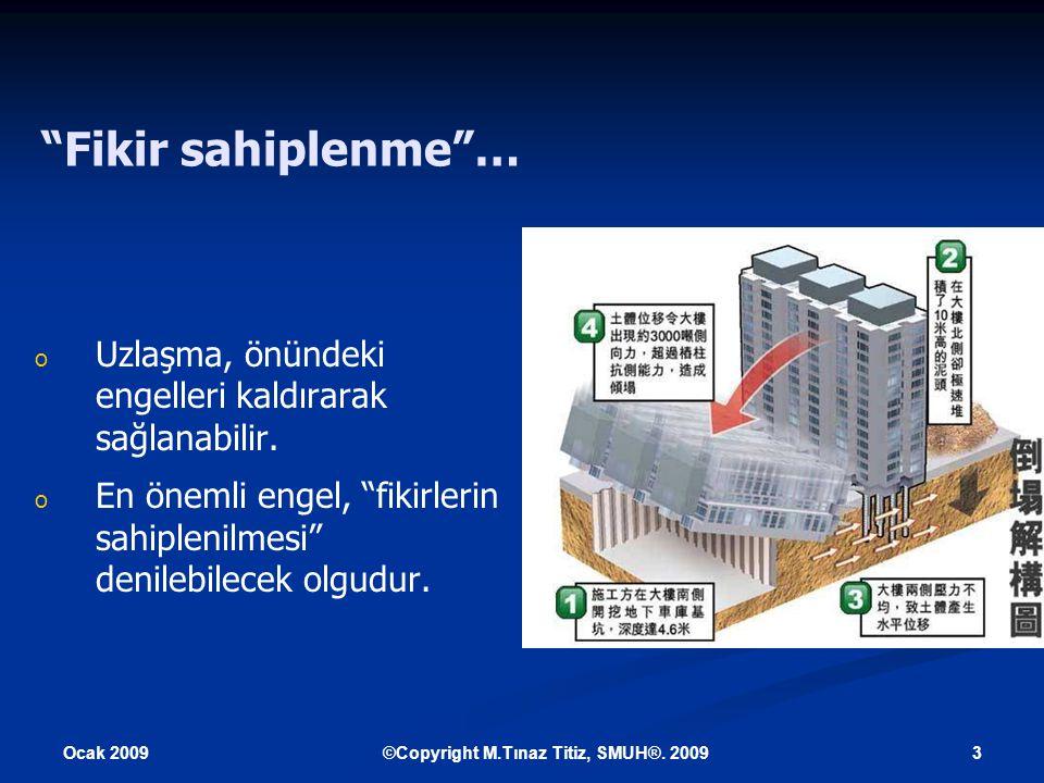 Ocak 2009 4©Copyright M.Tınaz Titiz, SMUH®.2009 Fikirler niçin sahiplenilir.