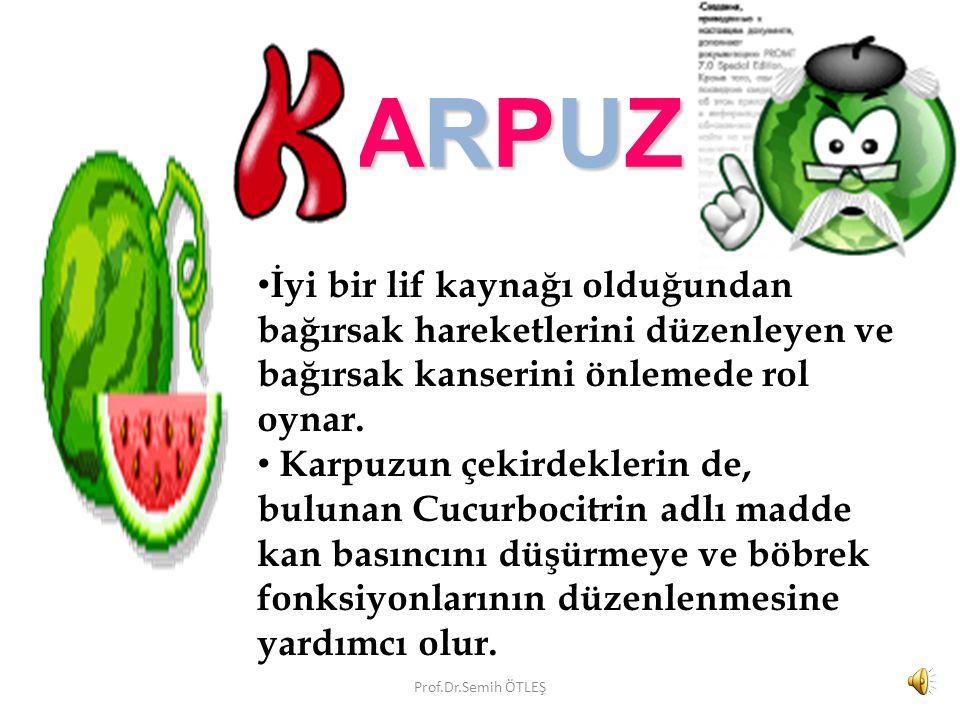ARPUZ ARPUZ Karpuzun, bol miktarda C vitamini içerir.