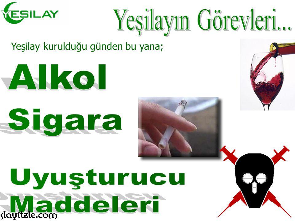 """5 Mart 1920 tarihinde merkezi İstanbul'da olmak üzere, alkolle mücadele için """"Hilâl-i Ahdar"""" adıyla, cemiyetin ilk temelleri atılmıştır. Daha sonralar"""