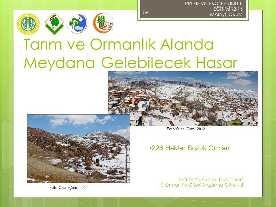 39 Foto:Okan /Çem, 2012 PROJE VE PROJE FİZİBİLİTE EĞİTİMİ 12-15 MART/ÇORUM Orman Yük.
