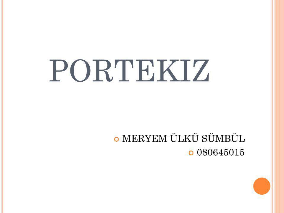 PORTEKIZ MERYEM ÜLKÜ SÜMBÜL 080645015